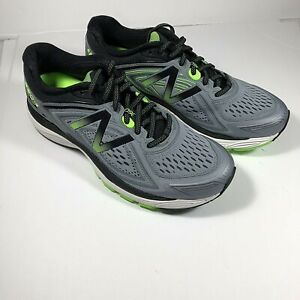 New-Balance-Men-039-s-860V8-Mens-Running-Shoes-Grey-With-Green-amp-Black-9-5