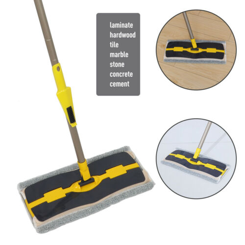 Professional Microfiber Flat Floor Mop wet hard wood Tile Floor CleaningMop2Pads