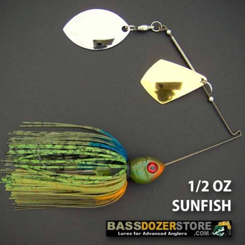 Bassdozer spinnerbaits ROYAL OKLAHOMA 1//2 oz F SUNFISH spinnerbait spinner bait