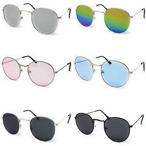 Round Lens Sunglasses Circle Frame Mens Ladies Womens Vintage Fashion Steampunk