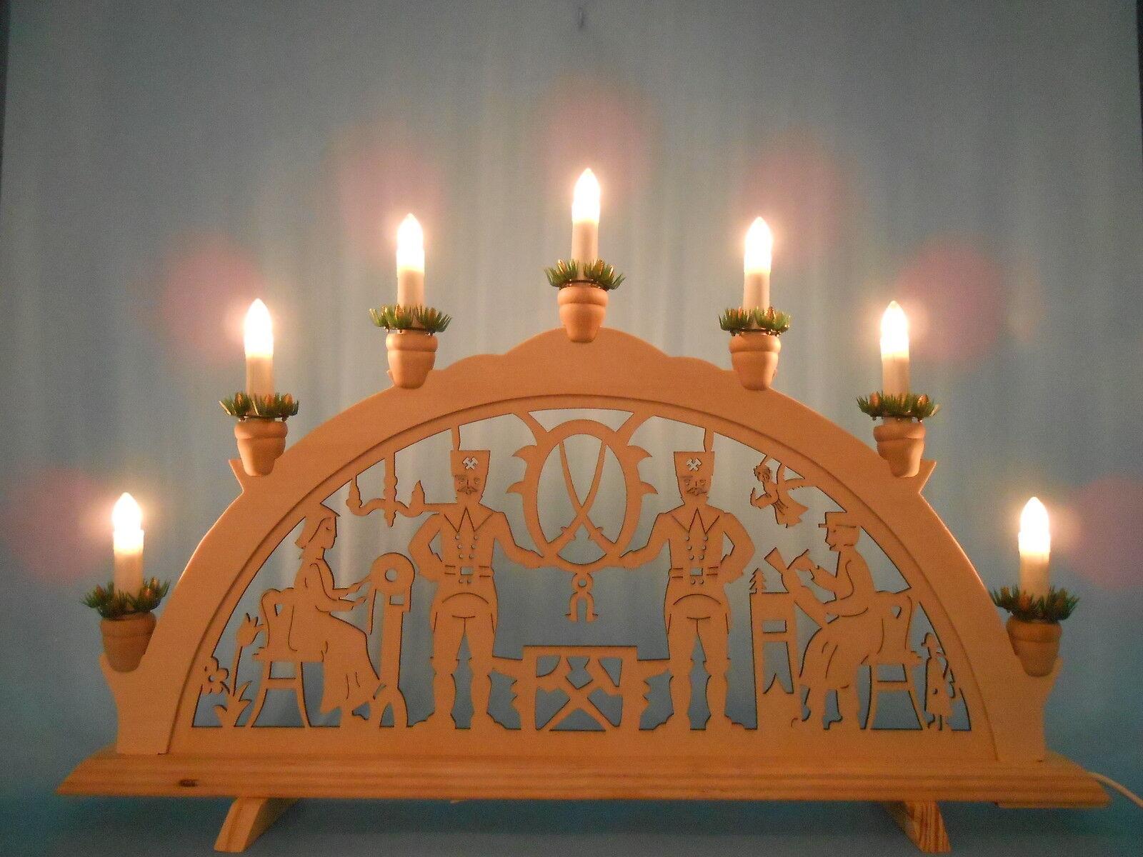 Schwibbogen arco di luci illuminazione finestra motivo Bergmann Bergmann Bergmann klöpplerin NUOVO 539a9e