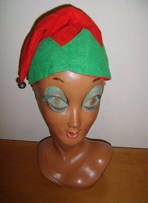 Amichevole Piccolo Budget Elfo Rosso E Verde Cappello Gnomo Folletto Nano Natale Fancy Dress Costume-
