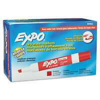 Expo Low Odor Dry Erase Marker Chisel Tip Red Dozen 80002 on sale