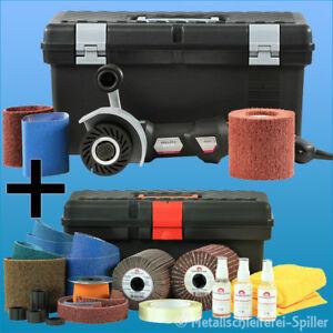Eisenblaetter-Satiniermaschine-Poly-PTX-802-Schleifer-Set-Flex-Metall-Buersten