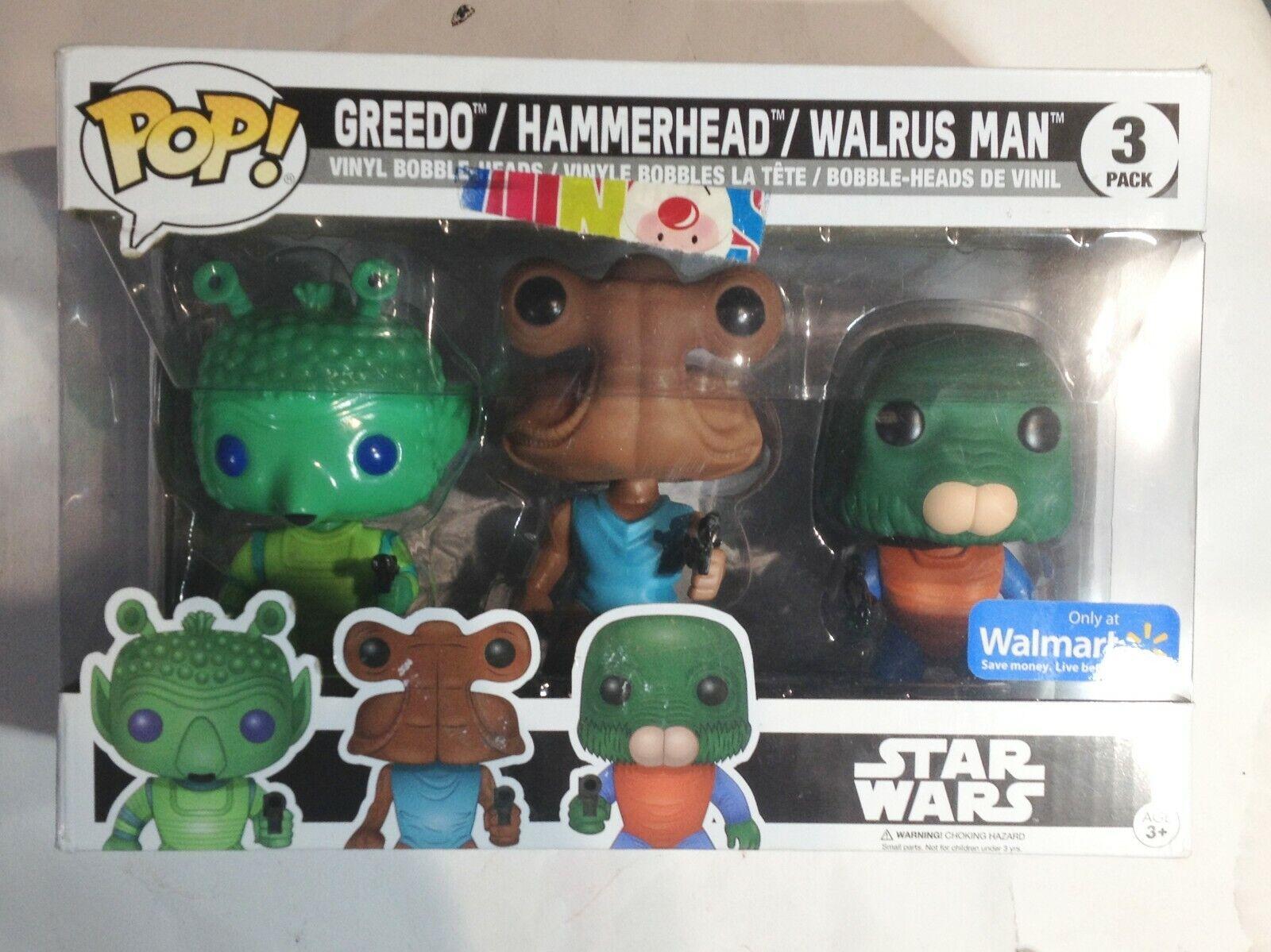 FUNKO POP STAR WARS GREEDO HAMMERHEAD WALRUS MAN CANTINA NEW IN BOX