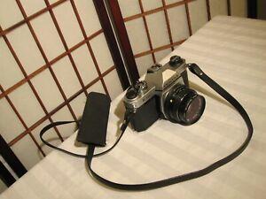 PENTAX-K1000-35mm-FILM-SLR-CAMERA-SMC-PENTAX-M-1-2-50mm-LENS-HOYA-FILTER-amp-CASE