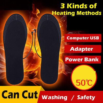 USB Elektrisch Beheizbare Einlegesohlen Beheizte Schuheinlagen Heizsohlen 40-44