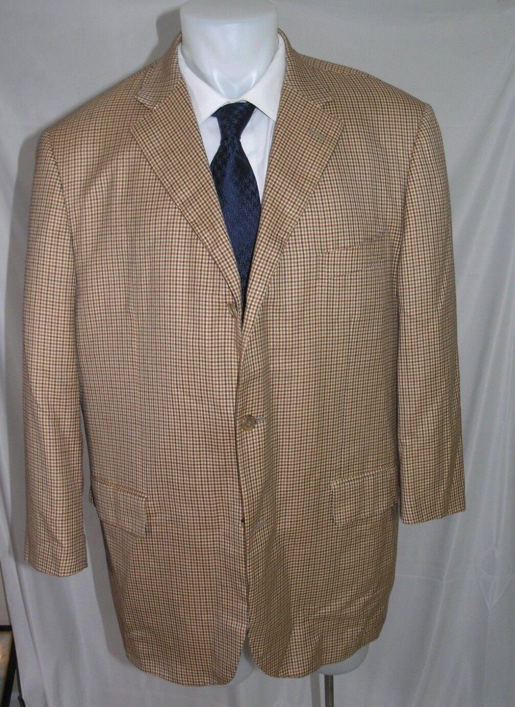 Hugo Boss Baldessarini 100% Cashmere Three Roll Two Blazer 48 R