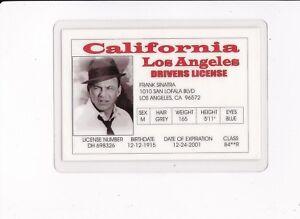 Sinatra Card Ebay Frank Fake California Collectible Drivers Id License