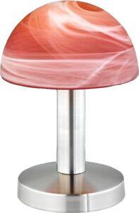 Touch-Tischlampe-Nachttischlampe-Tischleuchte-Dimmer-Schreibtisch-Rot-Orange