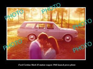 OLD-8x6-HISTORIC-PHOTO-OF-1968-FORD-CORTINA-Mk-II-WAGON-LAUNCH-PRESS-PHOTO-2