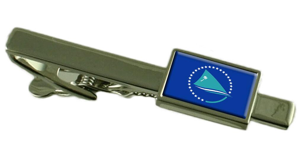 Comunità del Pacifico Tie Clip Clip Clip Bar con incisa personalizzata finestra di messaggio 68aad6