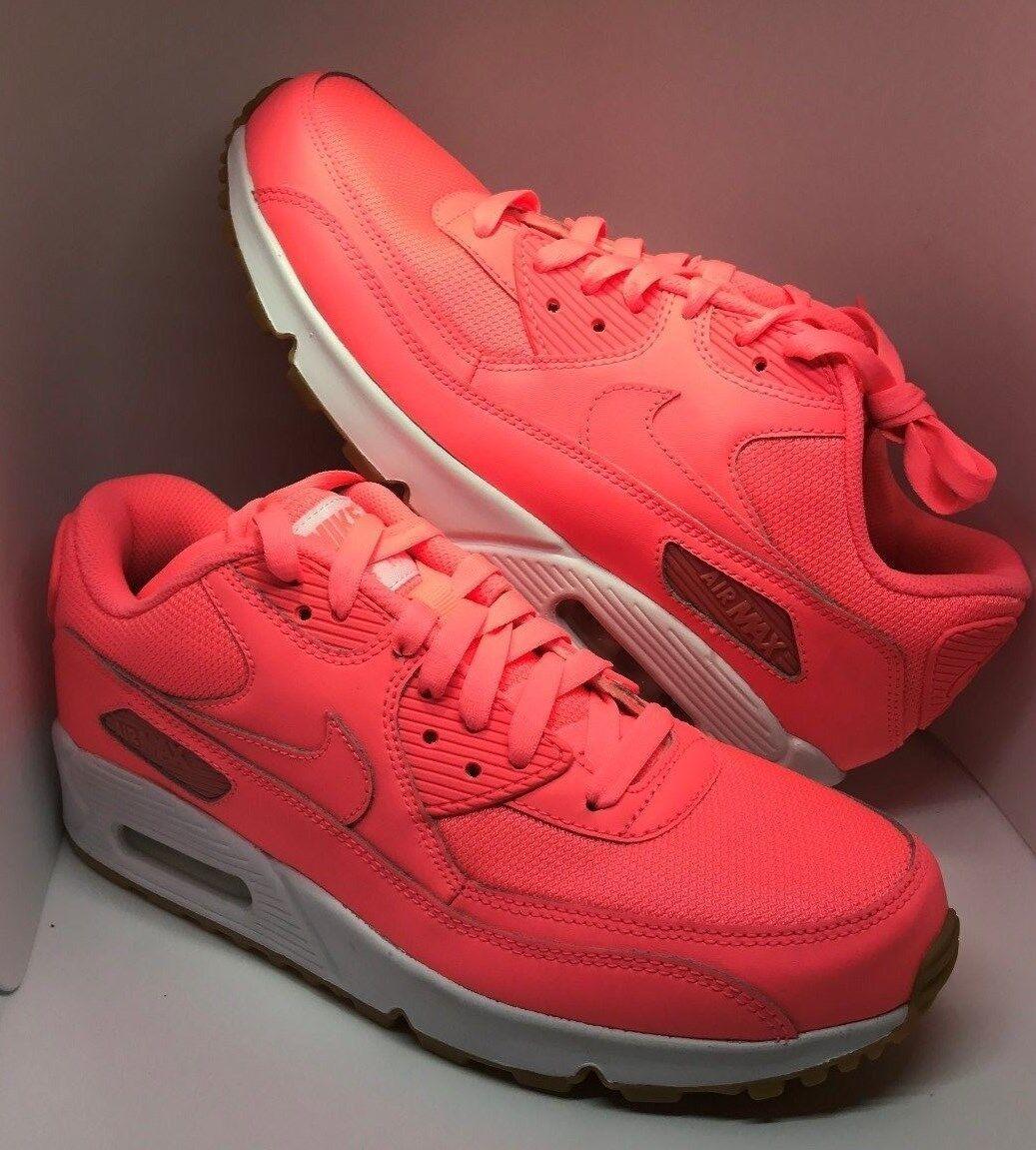 Nike iD Air Max 90 Women Women Women Running shoes Size 9.5 Hot Pink   White Gum Soles bc7130