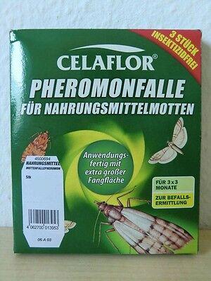 3 x 3 Stk. = 9 Stk. Celaflor Pheromonfalle für Nahrungsmittelmotten / Motten