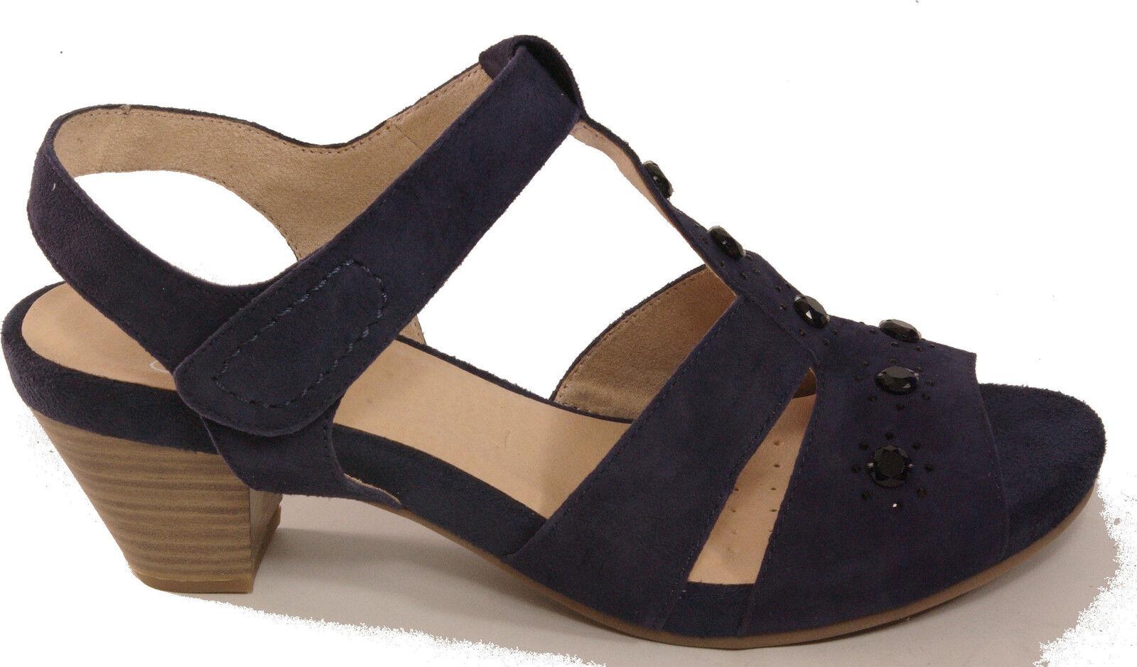 Caprice sandalias zapatos con tiras sandalias plataforma azul cuero genuino nuevo nobuck