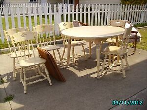 Details about Solid White Wash Maple Kitchen Table