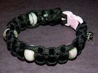 Handmade Breast Cancer Awareness Paracord Bracelet European Charm Beads