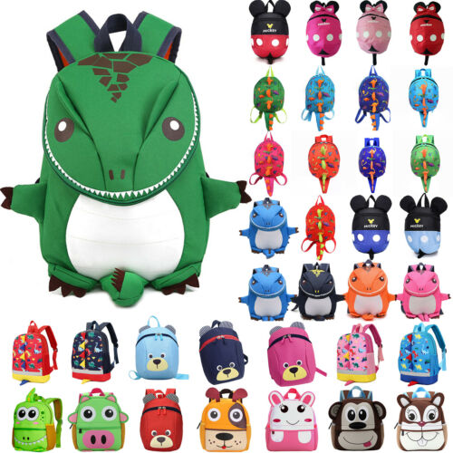 Kids Anti-Lost Safety Harness Plush Backpack Kindergarten School Bags Rucksack