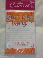 SURPRISE PARTY INVITES PACK OF 20 INVITATION SHEETS MALE FEMALE CELEBRATION