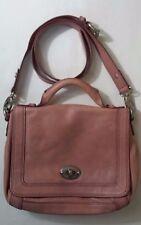 Fossil Long Live Vintage Leather Pink Medium Satchel Hand Bag Crossbody Purse