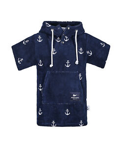 Atlantic-Shore-Surf-Poncho-Bademantel-Umziehhilfe-fuer-Kids-Anchor