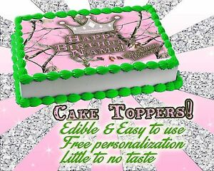 Excellent Camo Princess Edible Cake Topper Camouflage Girl Pink Image Sugar Personalised Birthday Cards Paralily Jamesorg