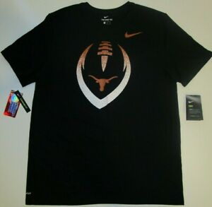 Nike Mens Texas Orange Longhorns Football Icon Performance T-Shirt