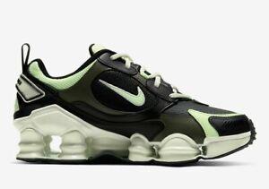 Nike-Shox-TL-Nova-SP-Shoes-Black-Green-AT8046-001-Women-039-s-Size-6-NEW