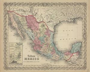 1856-Colton-039-s-034-MEXICO-034-original