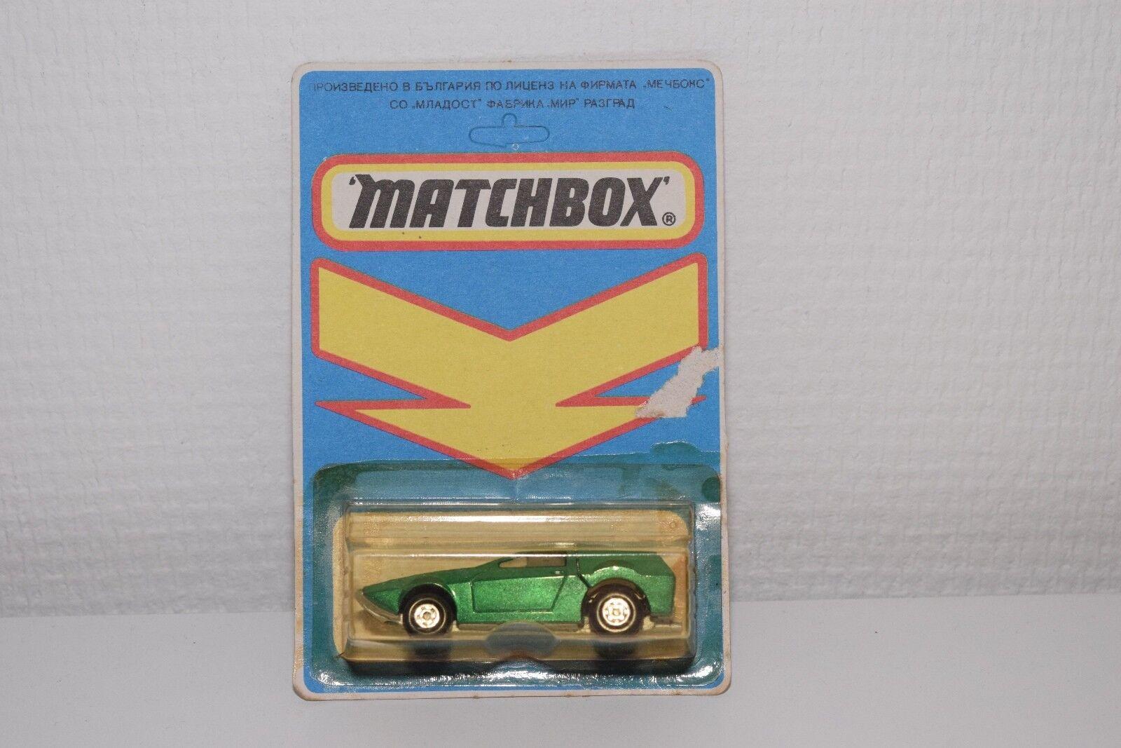 ^^^ MATCHBOX MIDNIGHT MAGIC RUFF TREK METALLIC GREEN MINT BOXED BULGARIAN RARE