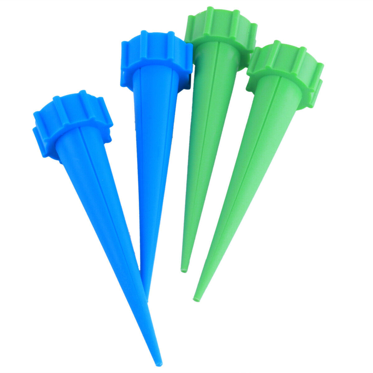 UK 4x Cone Automatic Watering Spikes Stake Water Feeder Irrigation Plant Garden