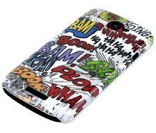 Hülle f HTC One S Schutzhülle Tasche Case Hard Cover Schale Comic BOOM Action