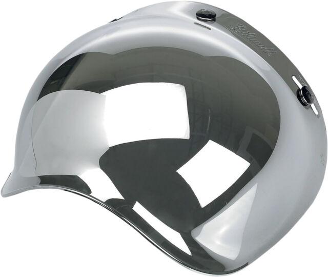BILTWELL Bubble UV Shield/Visor for Open-Face Motorcycle Helmets (Chrome)