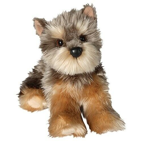 Plush Dog Puppy Yorkie Kids Toddler Toy Pretend Play Stuffed Animal Gift New