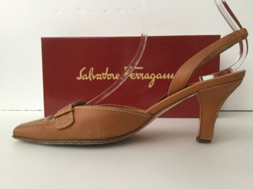 'Lua' Sko Ferragamo 1 Box 2 Court Størrelse Salvatore 5 Tan Leather a4qxnU5
