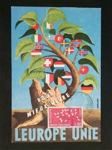 Italie Mk 1962 Europe Cept Maximum Carte Carte Maximum Card Mc Cm C6585-afficher Le Titre D'origine