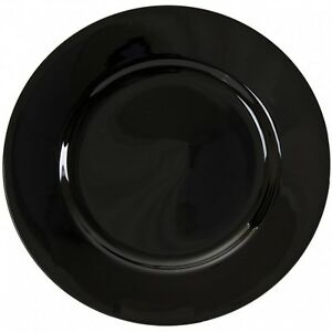 Black-Charger-Plates-Bridal-WEDDING-ACCESSORY-DISCOUNTED