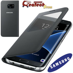 S-View-Cover-Originale-Per-Samsung-Galaxy-S7-Edge-G935F-Custodia-Finestra-Nera