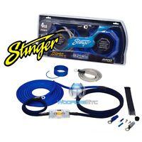Stinger Sk6241 Car Audio Amp 4 Gauge Wire Amplifier Pro Wiring Install Kit on sale