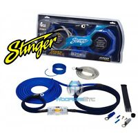 Stinger Sk6241 Car Audio Amp 4 Gauge Wire Amplifier Pro Wiring Install Kit on sale