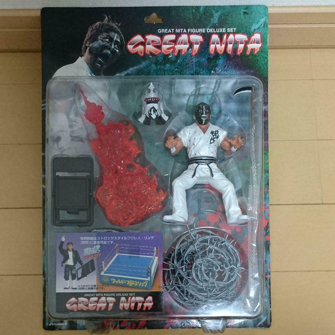 GREAT NITA ATSUSHI OHNITA FMW FIGURE NJPW NEW JAPAN PRO WRESTLING MUTA -2