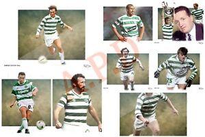 Glasgow-Celtic-legends-canvas-print-set-9-X-A4-canvas-PRINTS