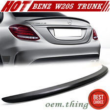 PAINTED MERCEDES BENZ W205 C-Class A Type Trunk Spoiler Wing C250 C300 4DR ABS