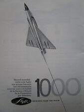 10/1962 PUB SEPR PROPULSION REACTION MIRAGE III MOTEUR FUSEE 1000 ème vol AD