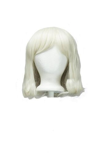 12'' Short Fluffy Bob Cut With Short Bangs Buttercream Blond Grace Wig New