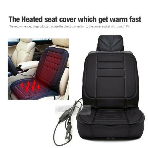 Car Heated Memory Form Cushion Hot Seat Cover Heater Pad DC12V For All Vehicle
