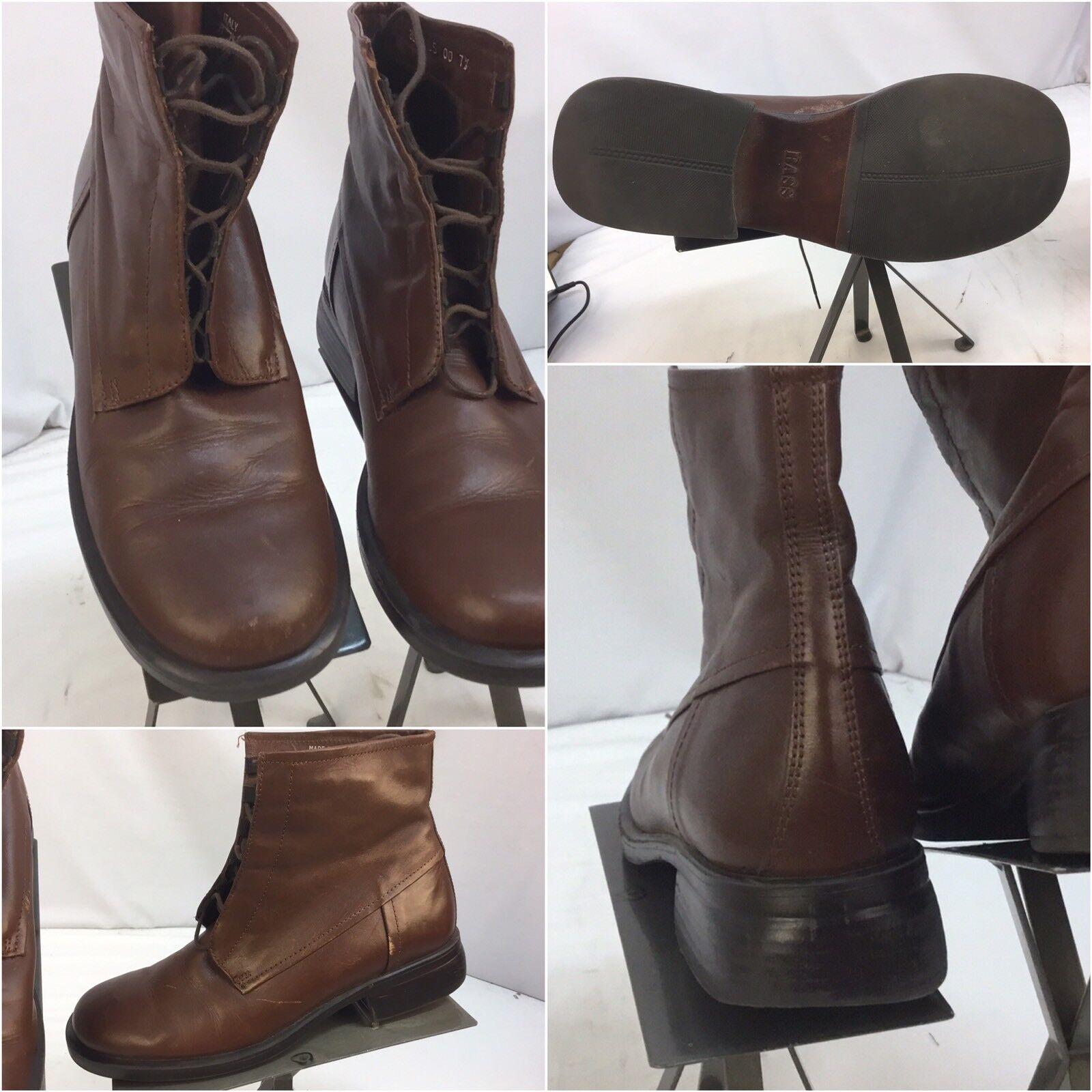 Bass bottes Sz 7.5 femmes marron Leather Made In  Worn Twice YGI I7