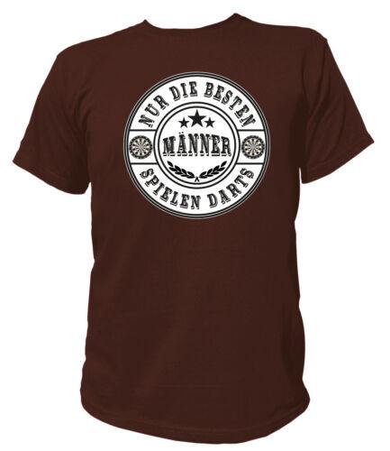 T-shirt-seuls les meilleurs hommes jouent aux fléchettes-Cadeau Funny Fan