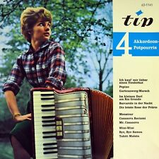 "7"" TIP TEMPO BACCAROLA 4 Vier Akkordeon Potpourris GÜNTHER GÜRSCH TIP EP 1962"