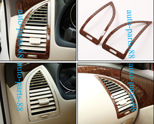 Wood Grain Gear Side Air Vent Outlet Cover Trim For Nissan Patrol Y62 2012-2019